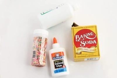 Ингредиенты для слайма из соды