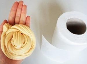 слайм из туалетной бумаги