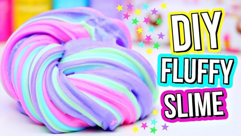 Разноцветный флаффи слайм